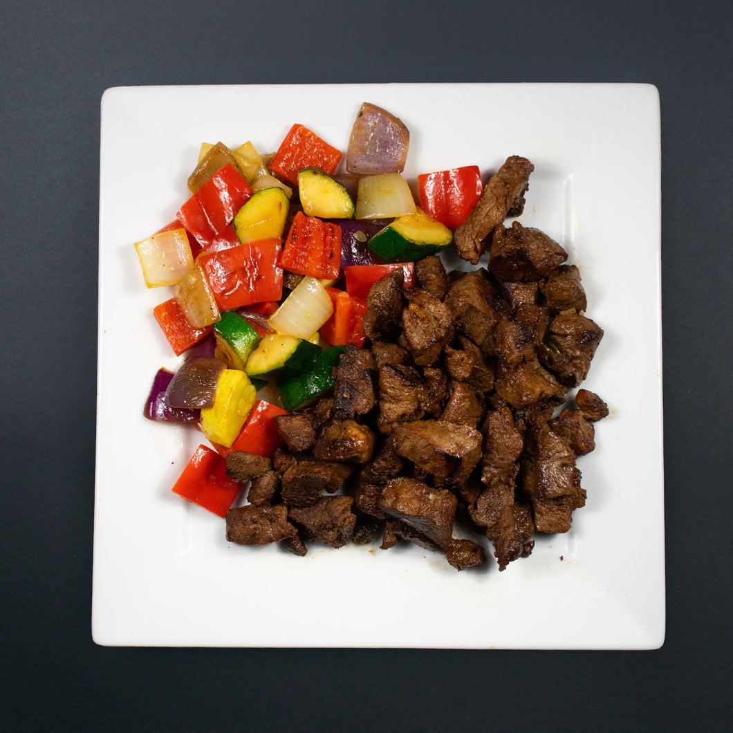 Low Carb Marinated Steak Tidbits - X-Factor Meals