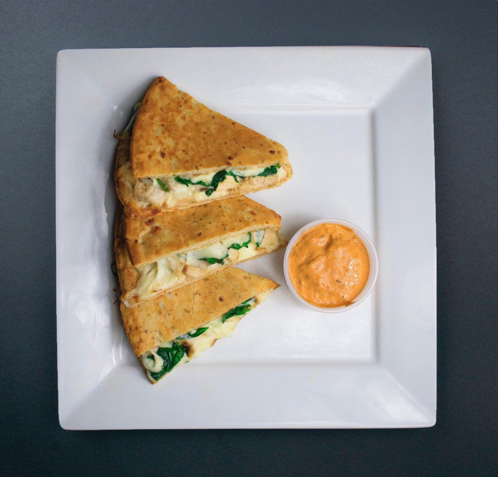 Spinach and Mozzarella Cheese Gluten Free Quesadilla - X-Factor Meals