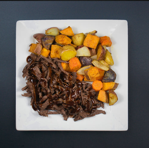 Pulled Steak with Roasted Vegetables - X-Factor Meals