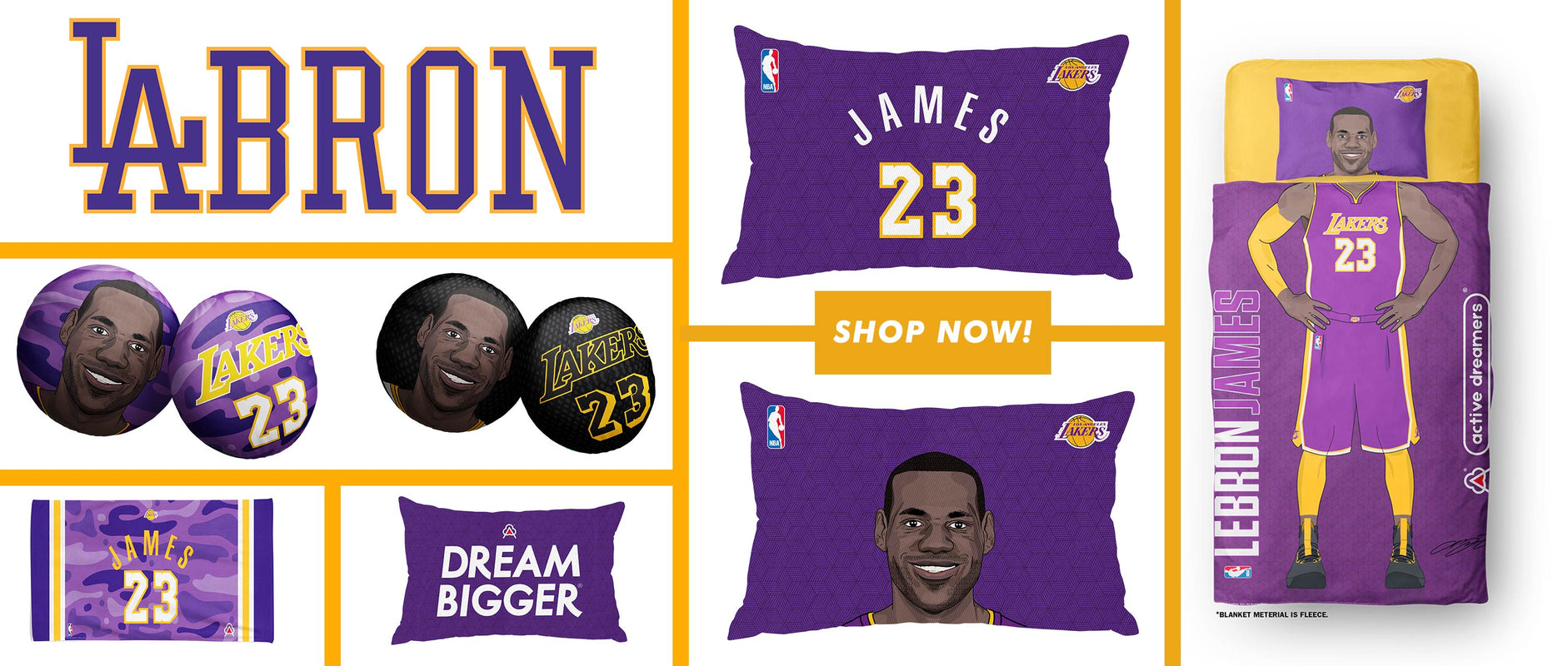 Active Dreamers Nba Bedding Sets Pillows And Blankets
