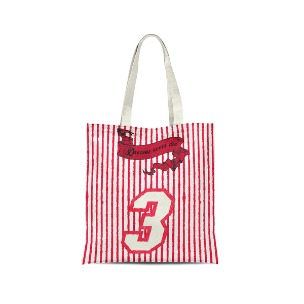 Tote Reaper Red on White