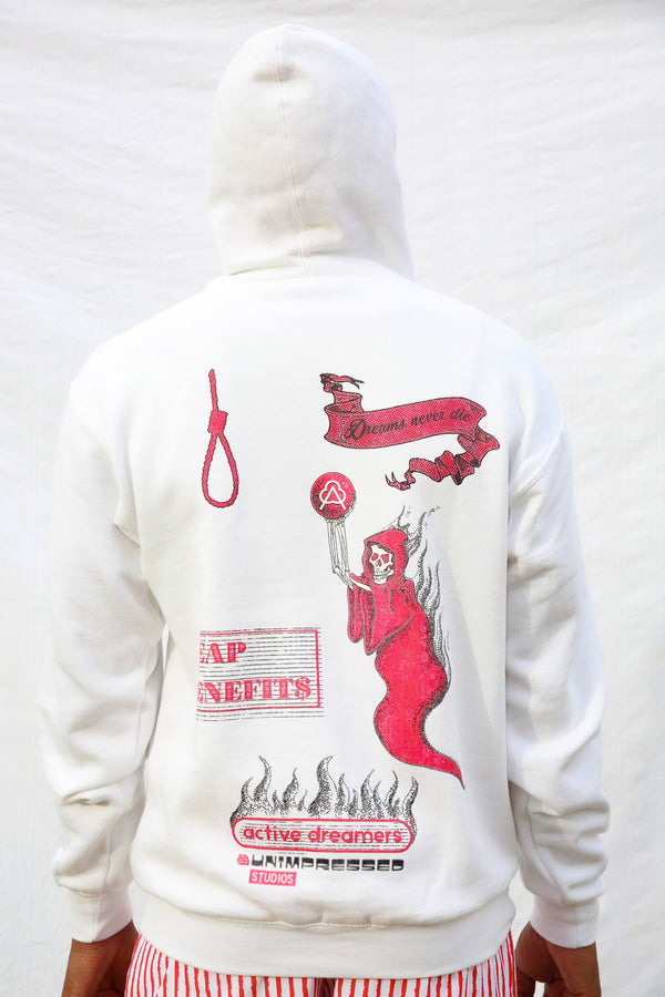 Hoodie Reaper Red on White