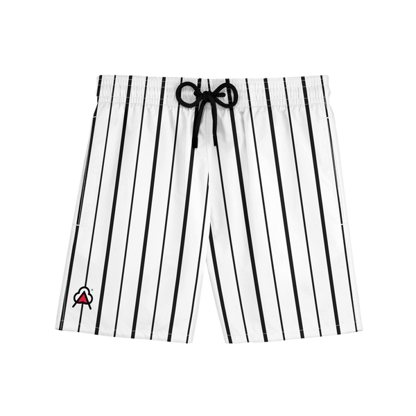 Black and White Pinstripe Shorts