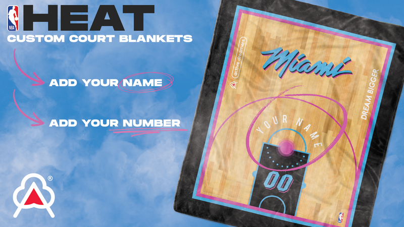 Custom Miami Heat Blanket