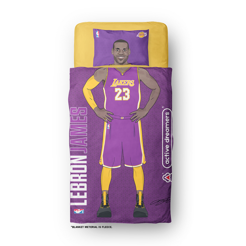 "Lebron James Lakers ""Signature Series"" Blanket"