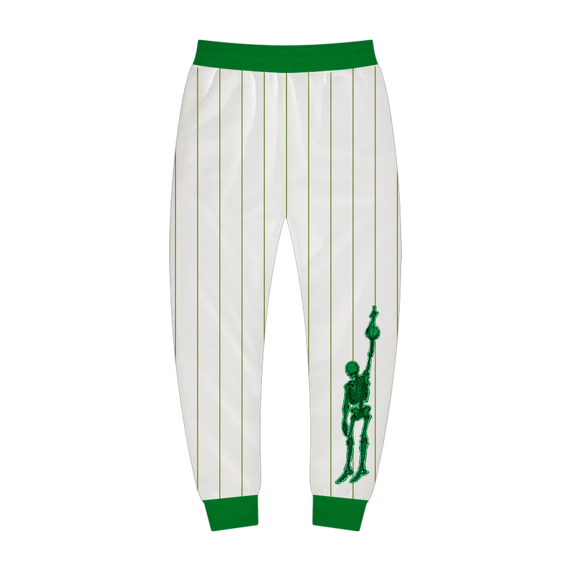 White and Green Sport Jogger