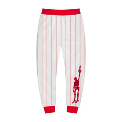 White and Red Sport Jogger