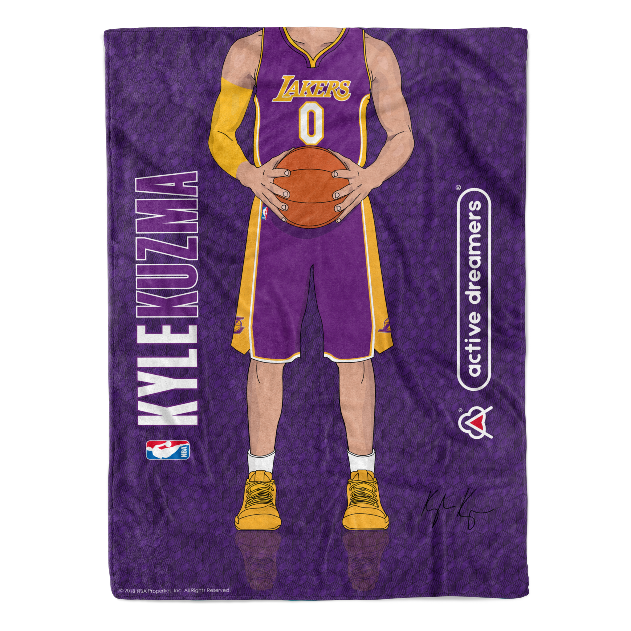 "Kyle Kuzma ""Signature Series"" Blanket"