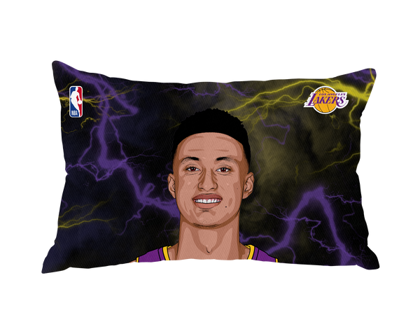Limited Edition Kyle Kuzma Lightning Pillow Case Face