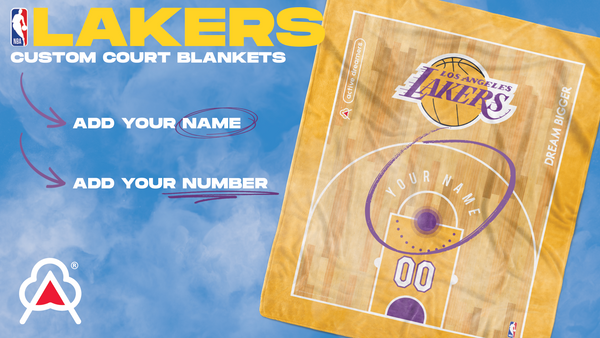 Custom Los Angeles Lakers Blanket