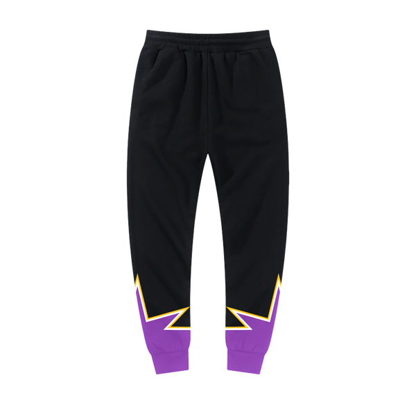 Purple and Gold Star Jogger