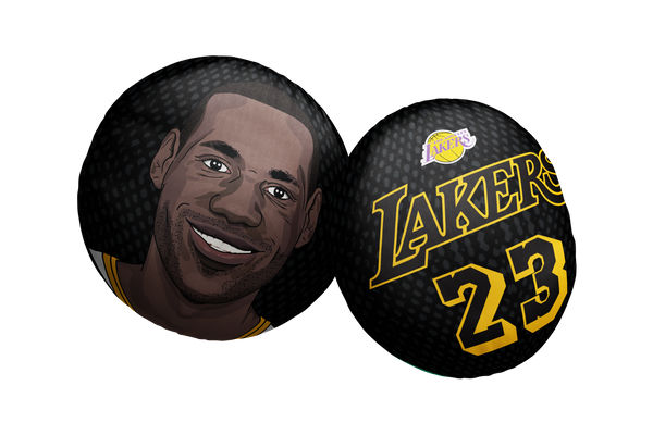 Lebron James Lakers Pillow Head Black