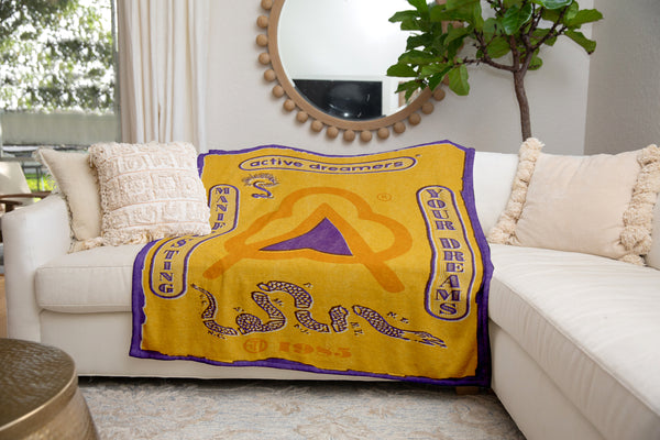 Manifesting Your Dreams Blanket Yellow