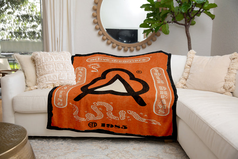Manifesting Your Dreams Blanket Orange