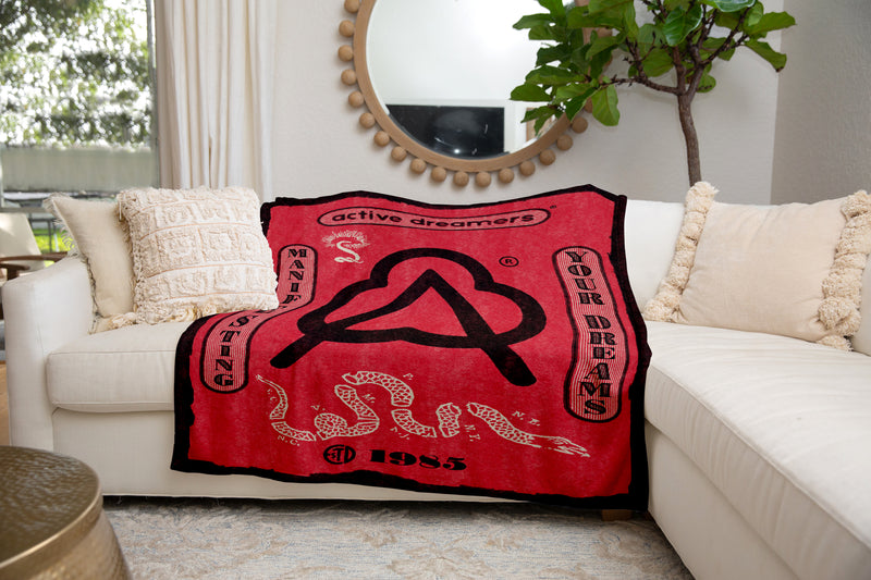 Manifesting Your Dreams Blanket Red