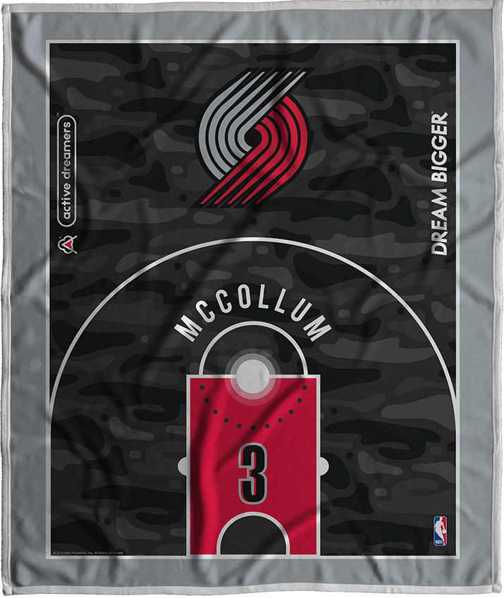 CJ McCollum Court Series Blanket