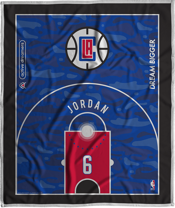 Deandre Jordan Dream Court Series Blanket