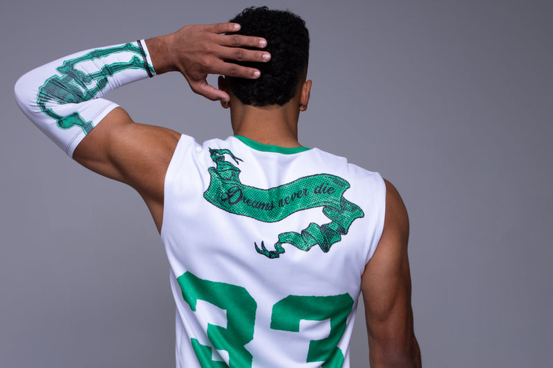 For the Love Reversible Jersey Green on White
