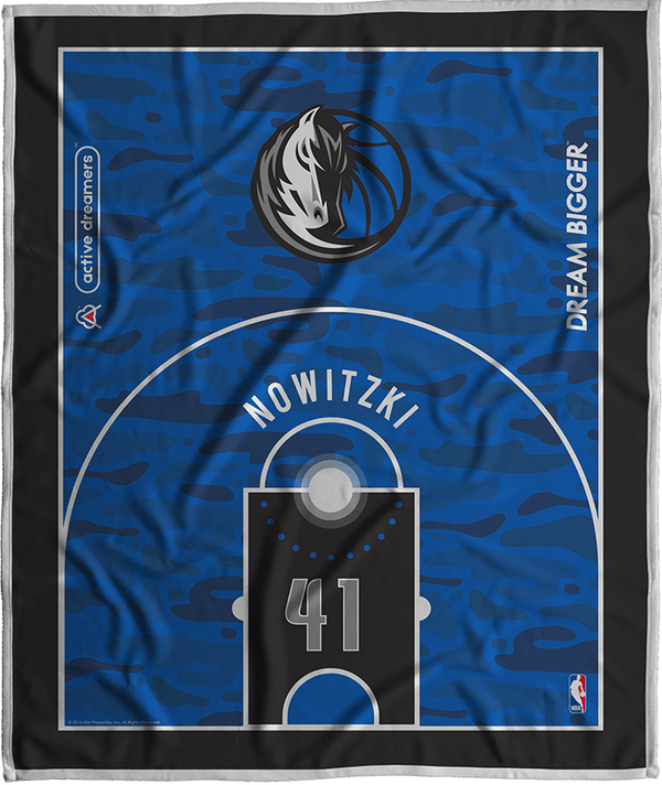 Dirk Nowitzki Dream Court Series Blanket