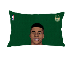 Giannis Antetokounmpo Pillow Case Face