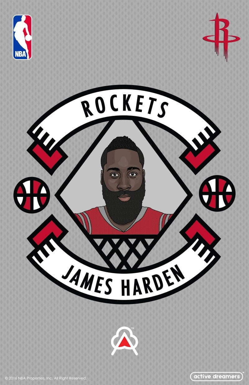 James Harden Reversible Blanket & Pillow Case Set