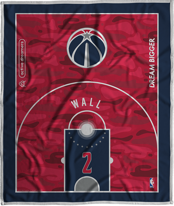 John Wall Dream Court Series Blanket