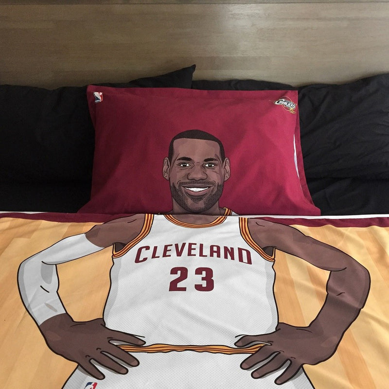 Lebron James Reversible Blanket & Pillow Case Set