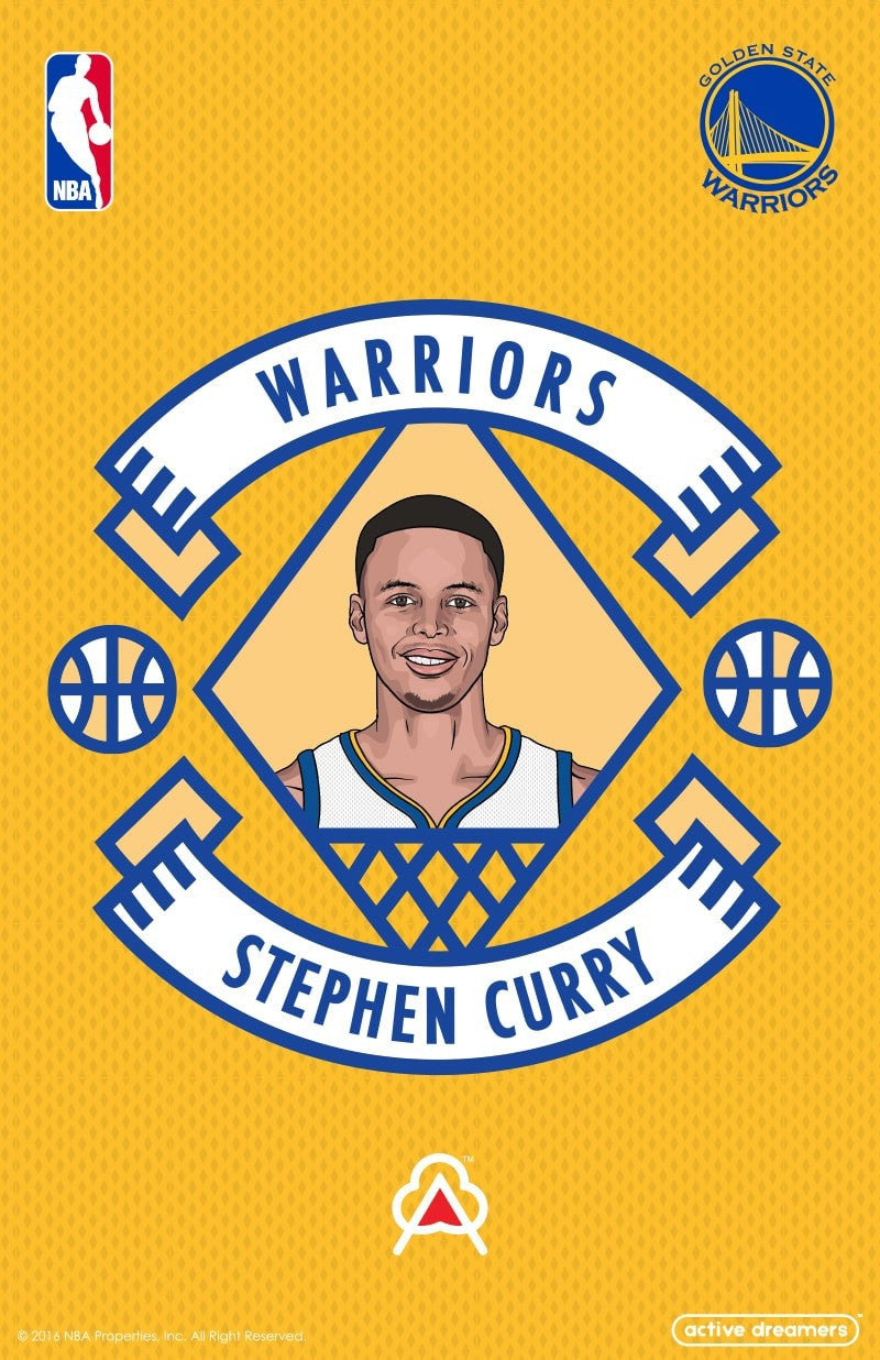 Stephen Curry Reversible Blanket & Pillow Case Set
