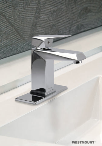 REBECCA |  Single Lever, Solid Brass, Bathroom Faucet - Westmount Waterworks