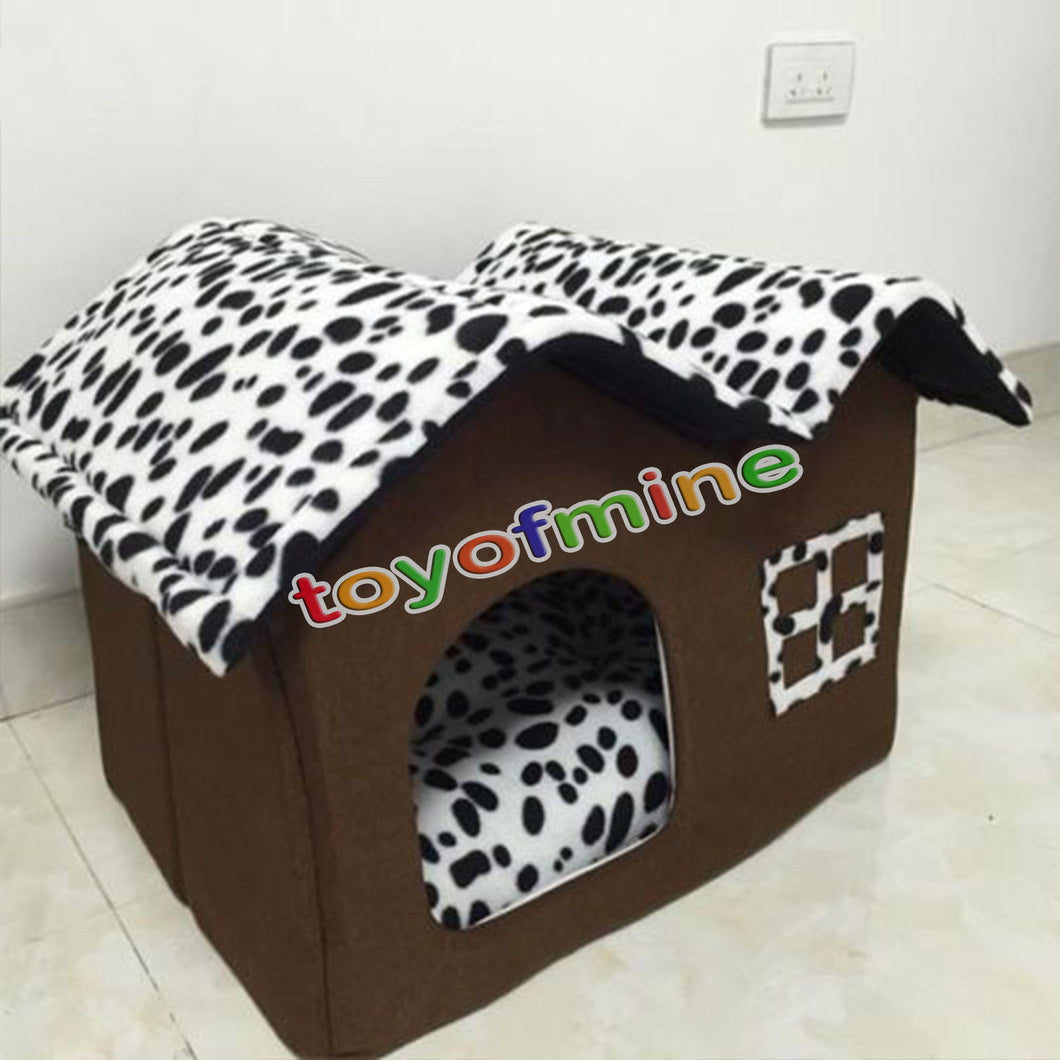 Pet Products Dog Cat Portable 55x42x40cm  Size Warm Soft Dog House Pet  Dog Kennel Cat Bed Cat House