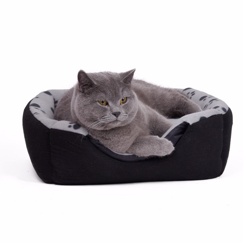 Pawz Road Domestic Delivery Pet Dog Bed Warm Paw Print Dog Kennel Soft Puppy Dog Cat Kennel 3 Ways Using