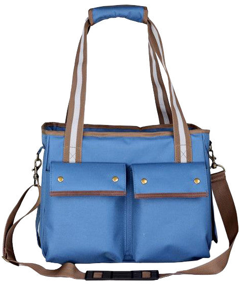 Fashion Canvas Pet Carrier- Blue