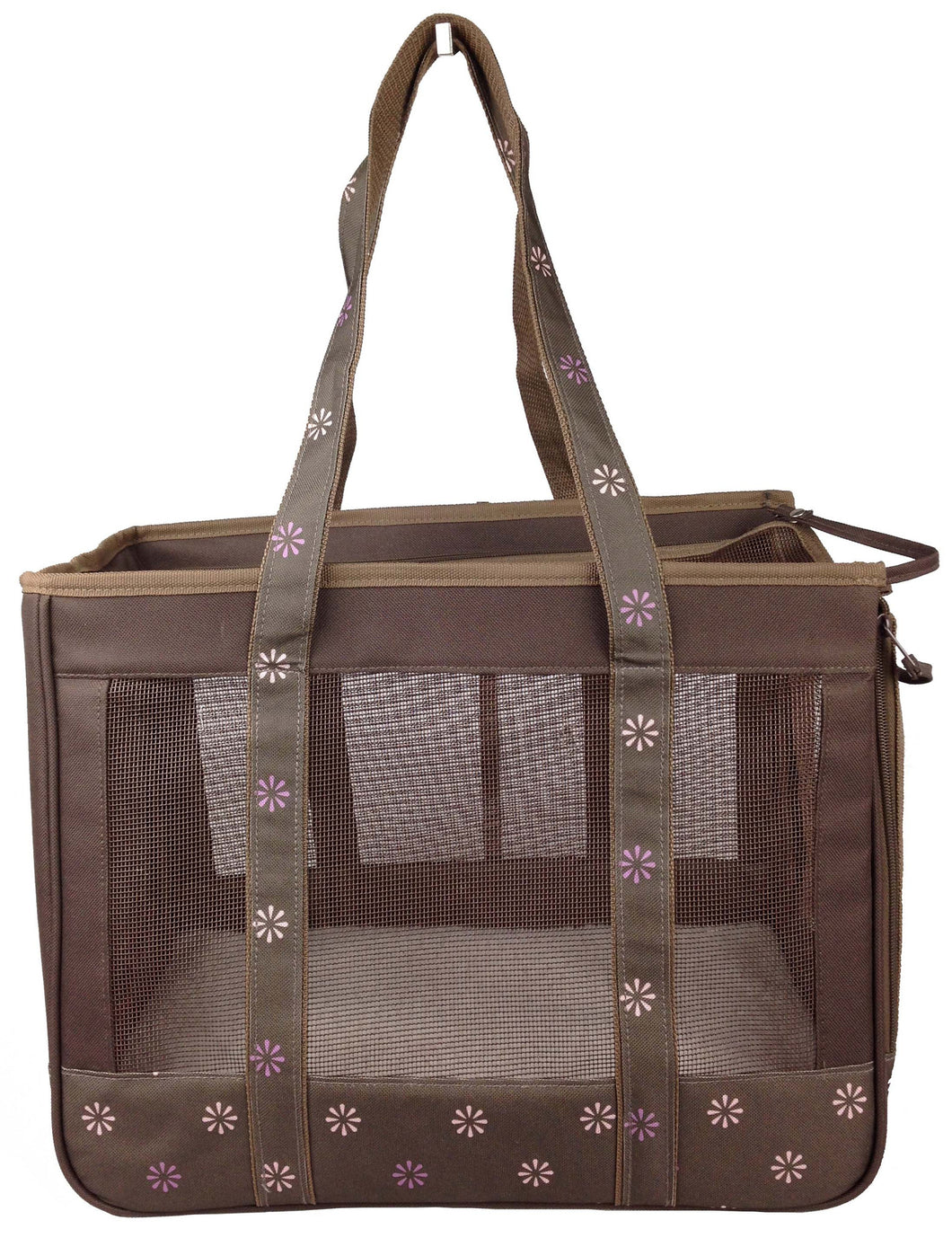Posh Fashion Pet Carrier- Cocoa Brown