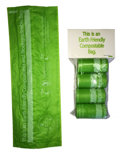 100% Compostable, Recyclable and Biodegradable  ECO-Friendly Pet Waste Bags