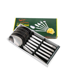 Tanica Flora Sendok Set 6 Pieces - Stainless Steel