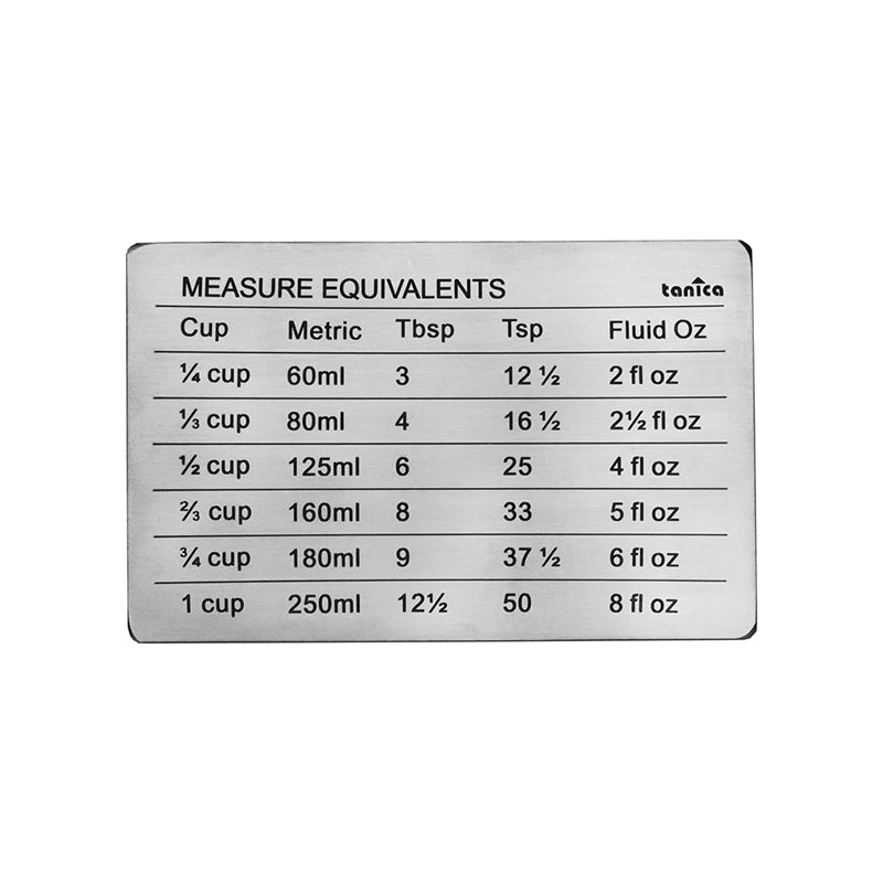 Tanica Magnet Conversion Chart & Measure Equivalents