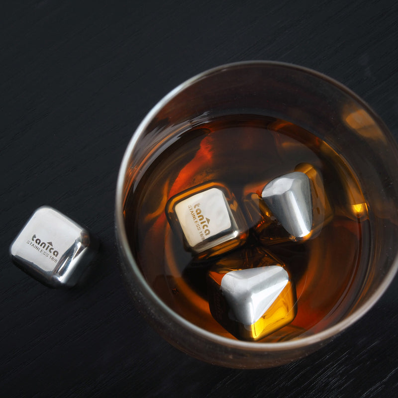 Tanica Stainless Steel Ice Cube set 4 pcs / es batu stainless