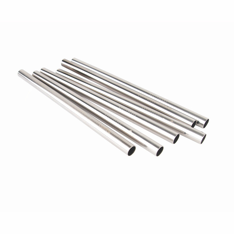 Tanica Reusable Straw / Sedotan besar stainless 6 pcs