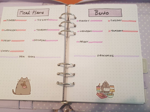 Annette meals bujo Spotlight on a Planner