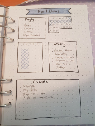 Annette weekly bujo Spotlight on a Planner