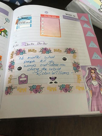 Spotlight on a Planner Frankie Taylor March 2020  planner 7