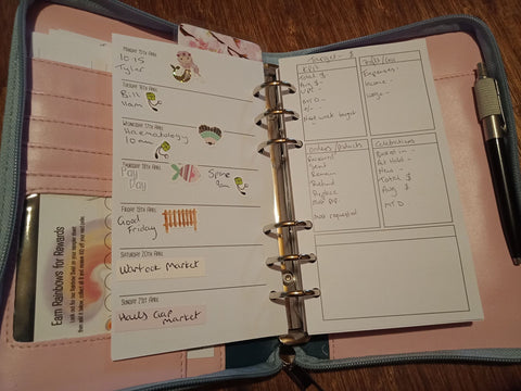 Shannon Philips personal size daily planner