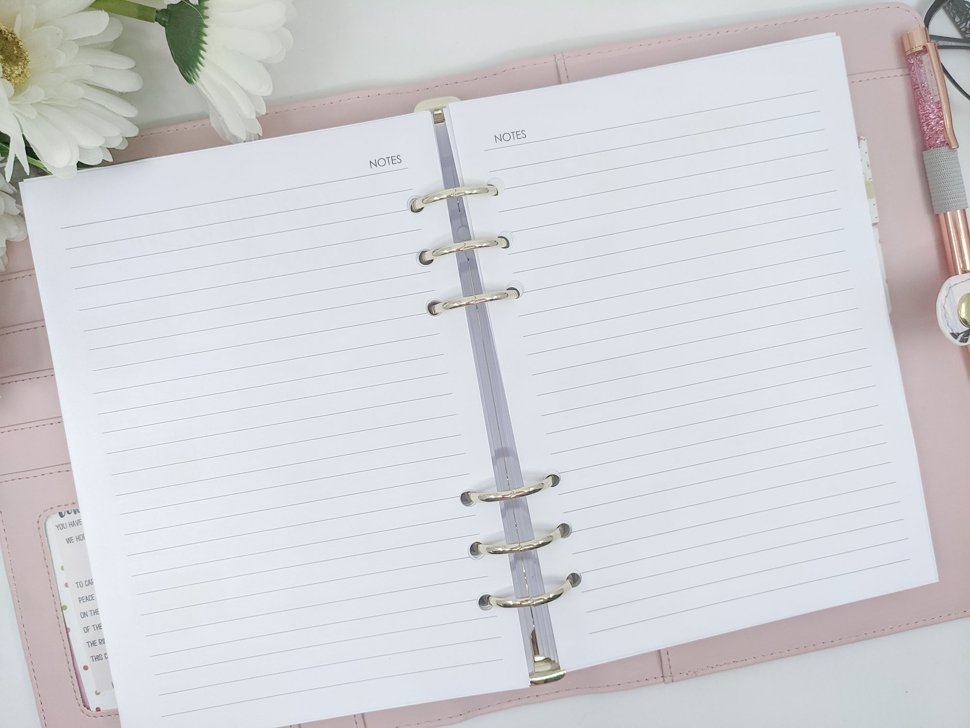 A5 lined notepaper