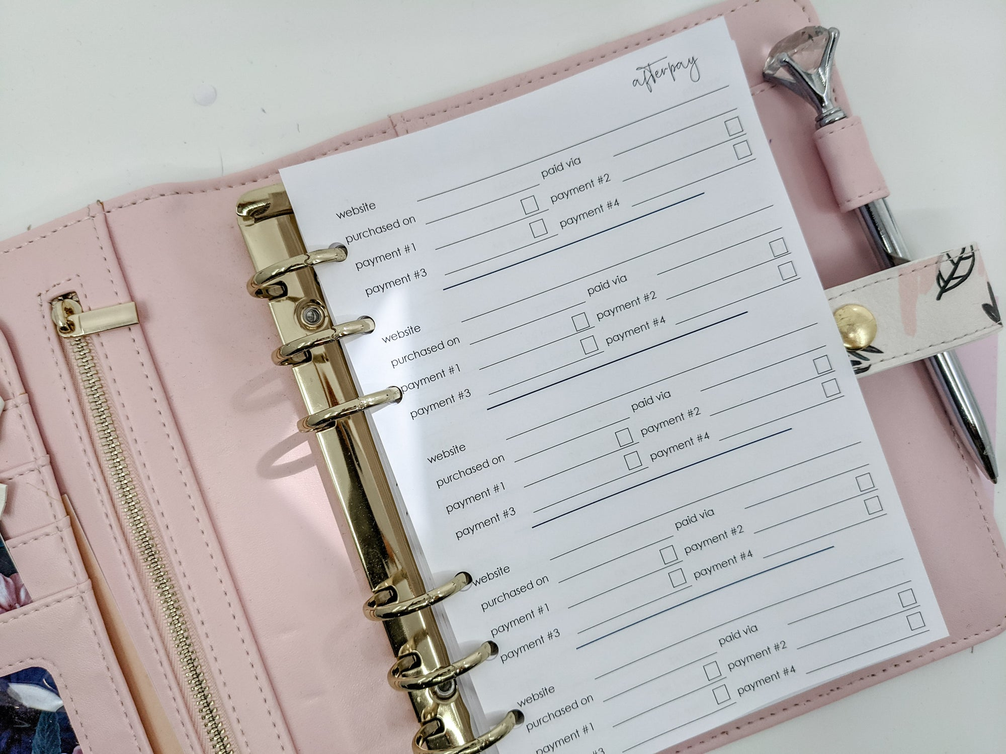 B6 Afterpay Trackers Planner Inserts | 10 double-sided pages