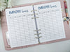 A5 Employee Hours Planner Inserts for Business Owners