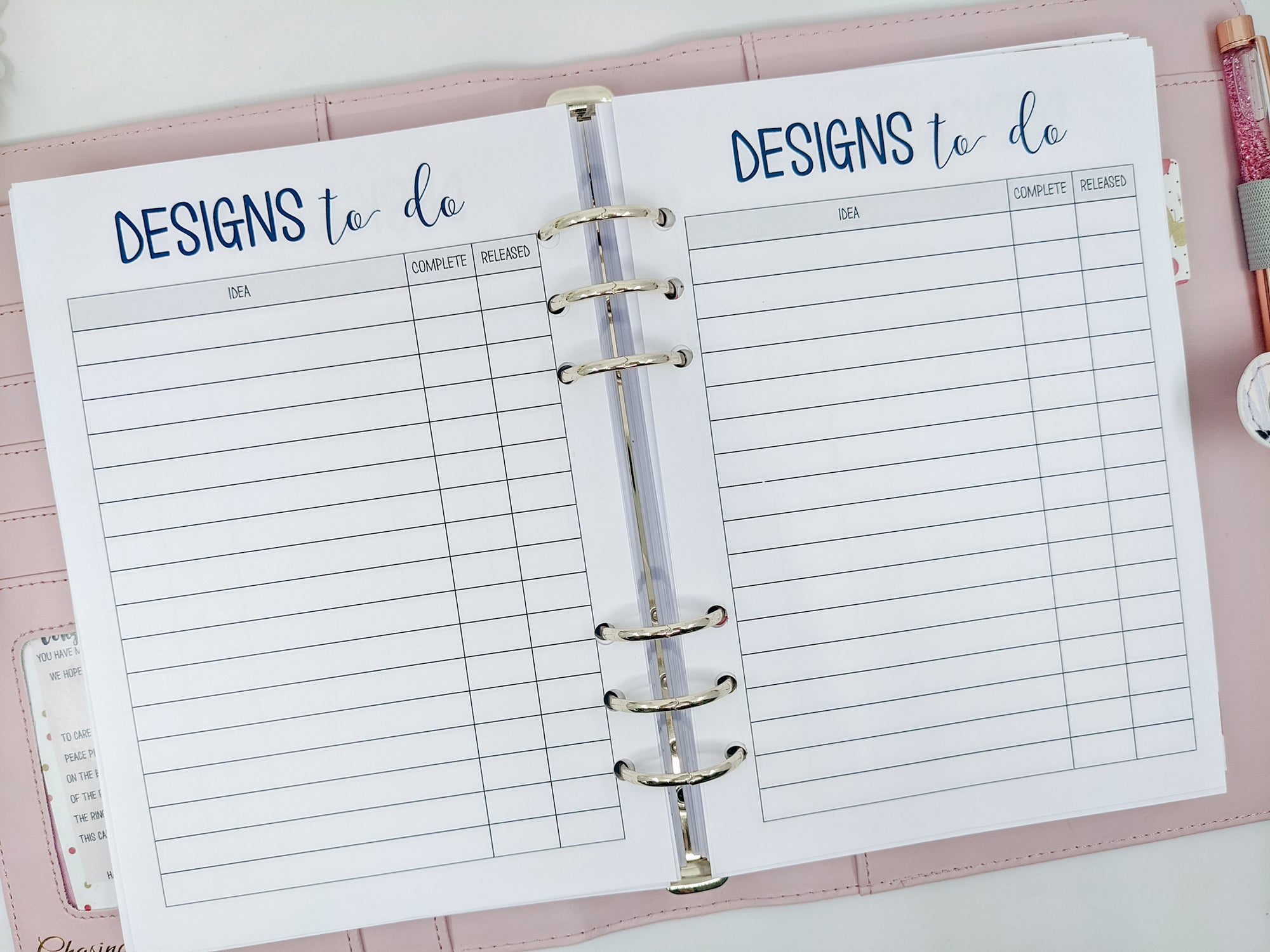 A5 Designs to Do Planner Inserts for Business Owners