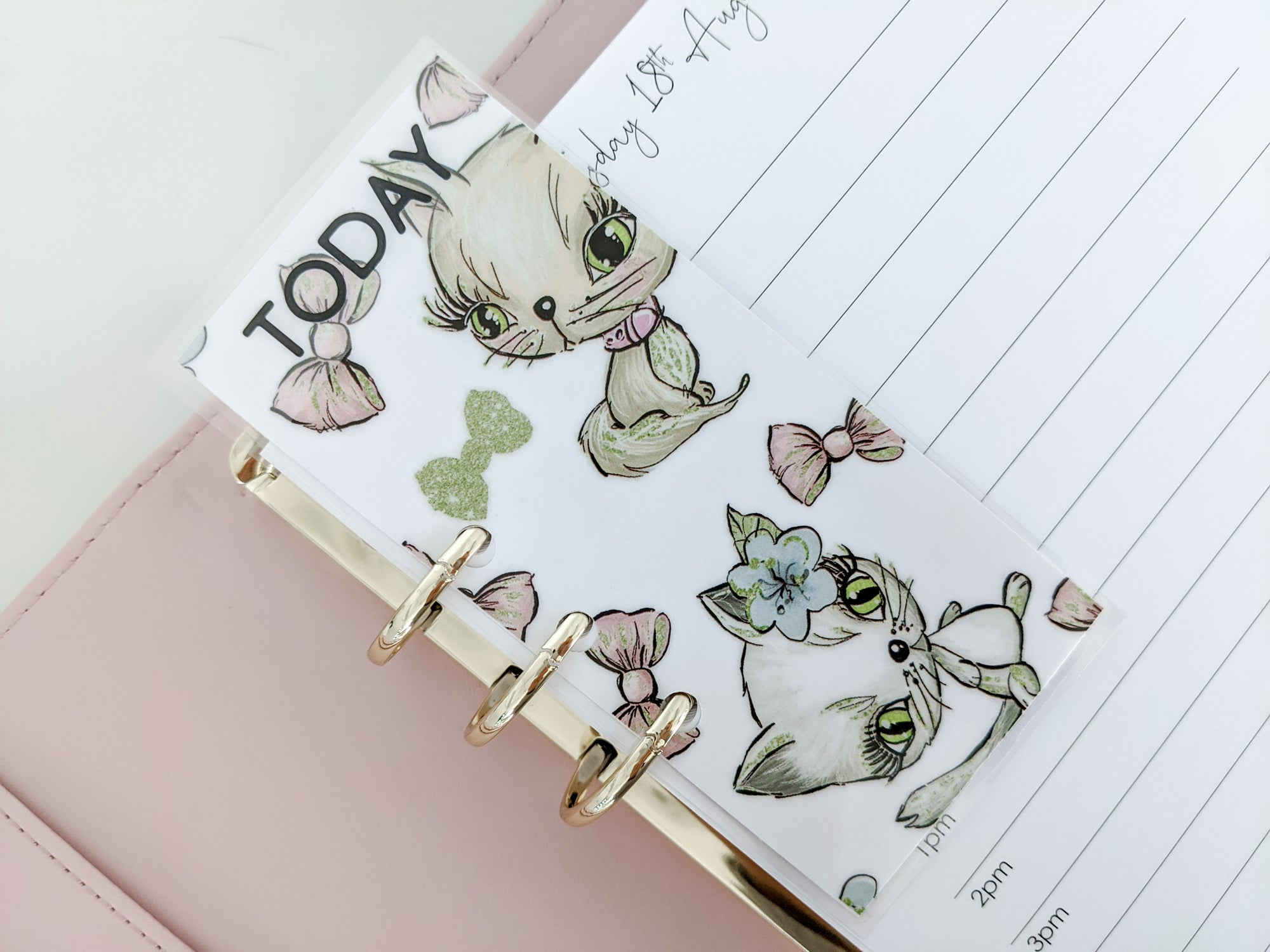 """TODAY"" Page Marker - Cat"