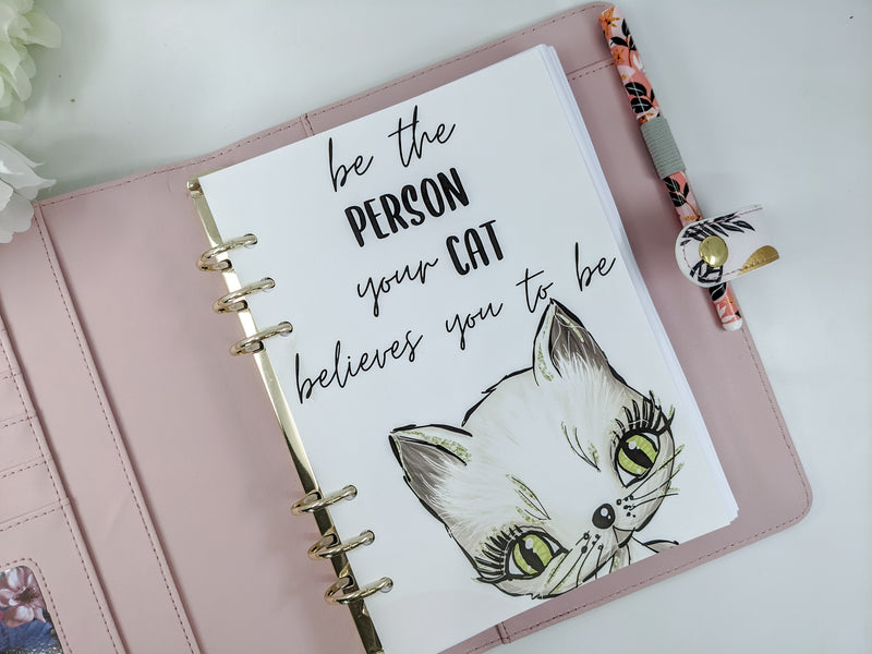 Be the Person Your Cat Believes You To Be Planner Dashboard