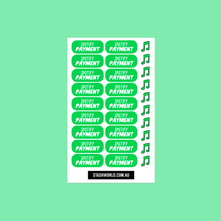 Spotify Sticker Sheet (Stash Sticker Club)