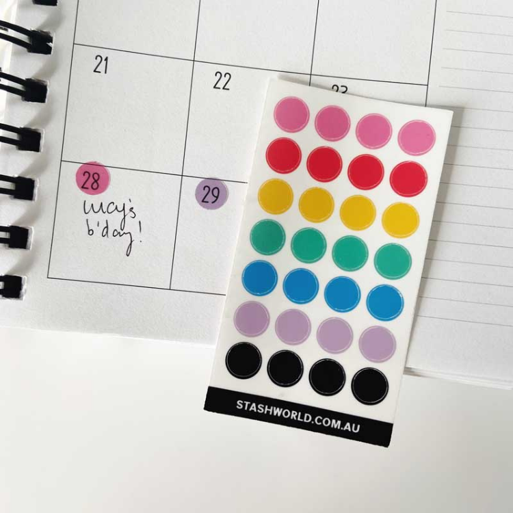 Transparent Dots 3 Pk (Stash Sticker Club)